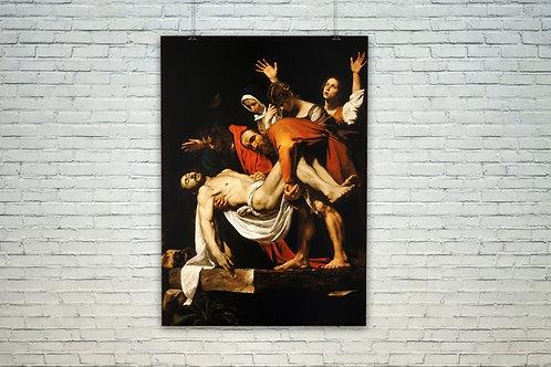 caravaggio, a deposição de cristo, jesus, quadro, poster, replica, canvas, gravura, reprodução, tela, releitura