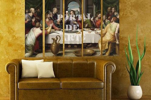 Juan de Juanes, Ultima Ceia, santa ceia, quadro, poster, gravura, canvas, replica, reprodução, conjunto de quadros, divididos