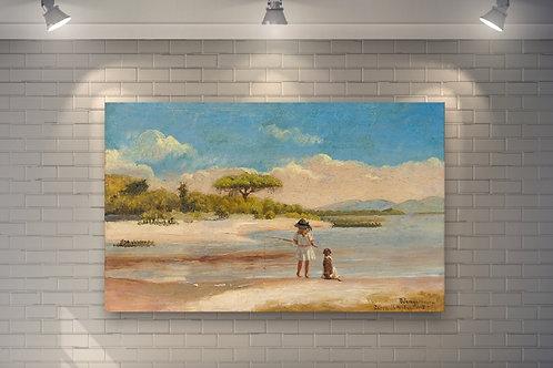 Pedro Weingärtner, Barra do Ribeiro,artistas brasileiros,quadro, poster, replica, gravura, canvas, reprodução, tela,fototela