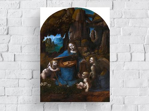 Leonardo Da Vinci,Virgem nas Rochas,quadro,reprodução,poster,canvas,gravura,replica,tela,pintura