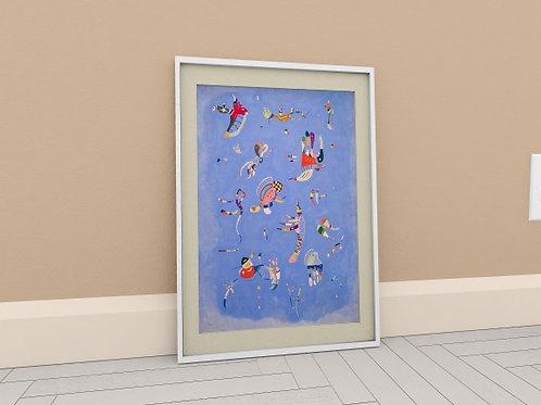 wassily Kandinsky, azul do céu, céu azul, Sky Blue, quadro, poster, gravura, reprodução, canvas, replica, releitura, tela