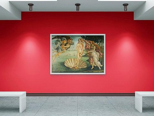 sandro Botticelli, Nascimento de Vênus, quadro, poster, replica, gravura, reprodução, canvas, tela