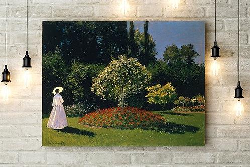 Monet - Mulher no Jardim, Sainte-Adresse