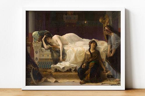 Alexandre Cabanel,Fedra,Phaedra,mitologia,poster,gravura,reprodução,réplica,canvas,releitura,tela,pintura