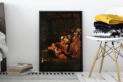 Caravaggio,Adoração dos Pastores,quadro,reprodução,poster,canvas,gravura,replica,fototela,tela,pintura,releitura
