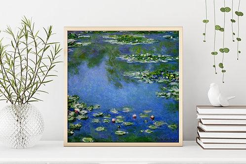 claude monet, lagoa de lirios, Lírios de água, 1906, Water Lilies, Nenúfares, Nymphéas, quadro, poster, replica, canvas, tela