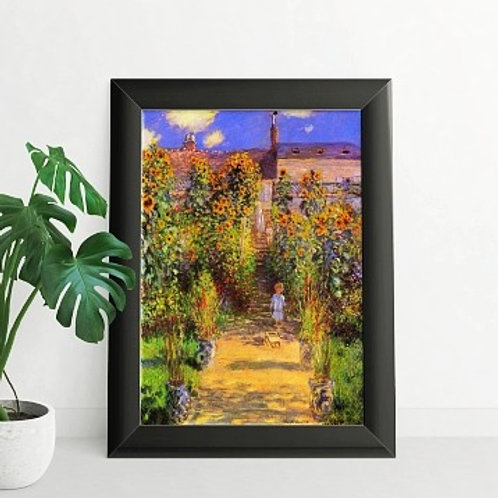 claude monet, Jardim em Vetheuil, Garden at Vetheuil, quadro, poster, replica, canvas, reprodução, gravura, tela