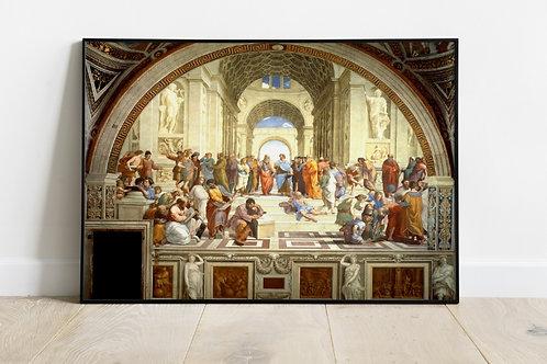 Escola de Atenas, rafael sanzio, raphael sanzio, quadro, canvas, poster, replica, gravura, reprodução, tela