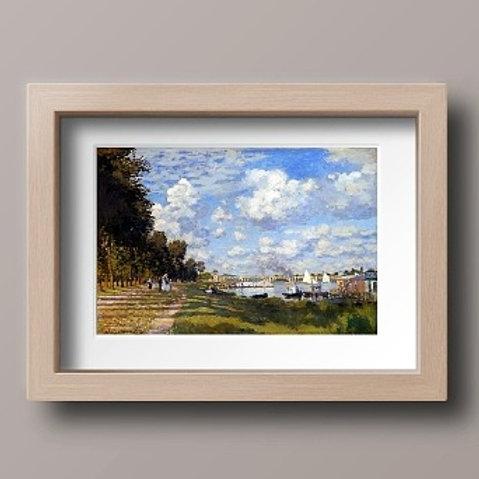 Monet, O Porto em Argenteuil, A Bacia do Argenteuil Grand-Palais, quadro, poster, replica, canvas, reprodução, gravura