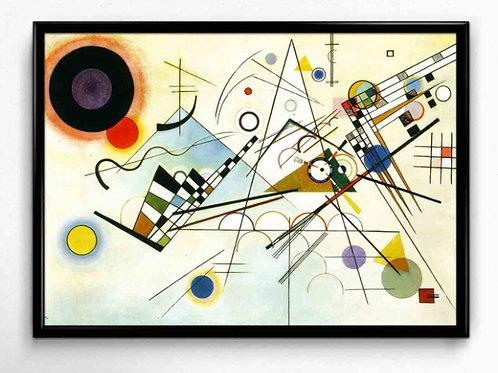 Wassily kandinsky, composição VIII, Composition VIII, poster, gravura, reprodução, canvas, replica, releitura