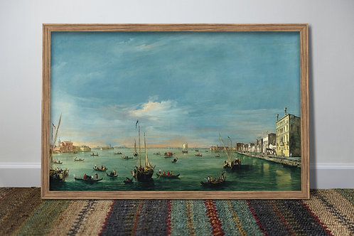 Canaletto,Vista do Canal Giudecca e do Zattere,Veneza,quadro,poster,gravura,replica,canvas,reprodução,fototela,pintura,tela