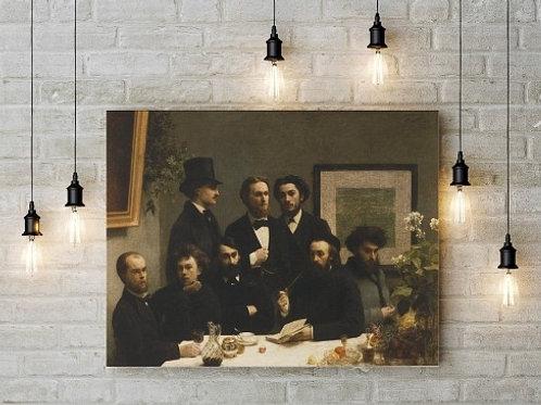 Henri Fantin Latour, um canto de mesa, esquina, By the Table, quadro, poster, canvas, reprodução, gravura, replica, tela