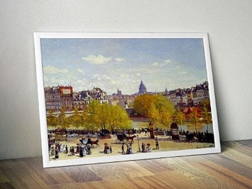 claude monet,Cais do Louvre,The Quai Du Louvre, Paris, quadro, poster, replica, canvas, reprodução, gravura, tela