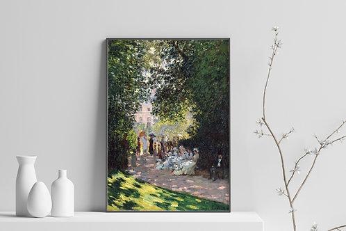 monet, O Parque Monceau, quadro, poster, gravura, canvas, replica, reprodução, fototela,tela,pintura