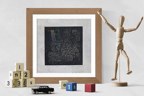 Kazimir Malevich,Quadrado Preto,1913,Quadro,Poster,Gravura,abstrato,Canvas,preto e branco,