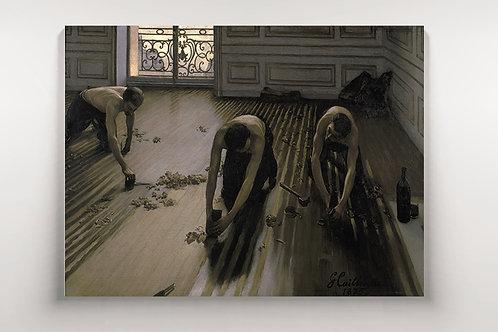 Gustave Caillebotte, Raspadores de Parquet,quadro, poster, replica, canvas, gravura, reprodução,tela,fototela