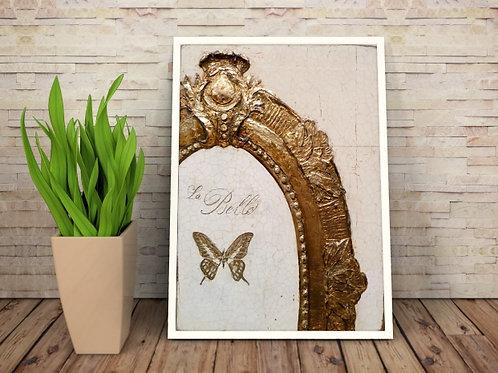 quadro dourado gravura dourada, tela dourada, branco e dourado, quadro, poster, gravura, reprodução, canvas, replica, tela