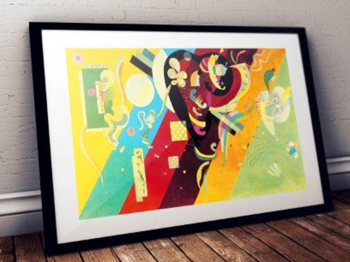 wassily Kandinsky, Composição IX, Composition IX, poster, gravura, reprodução, canvas, replica, releitura