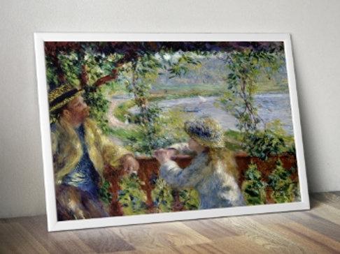 Renoir, By the Water, Perto do Lago, quadro, poster, gravura, replica, reprodução, canvas