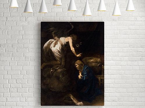 Caravaggio,Anunciação,annunciation,quadro,reprodução,poster,canvas,gravura,replica,fototela,tela,pintura,releitura