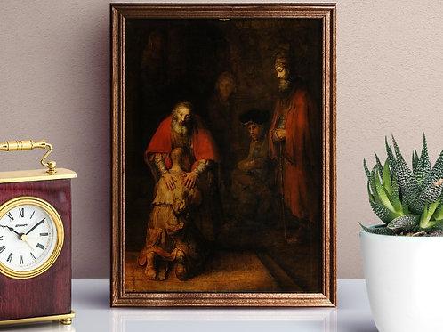 Rembrandt, Retorno do Filho Pródigo, volta do filho pródigo, regresso do filho pródigo, quadro, canvas,poster,replica,gravura