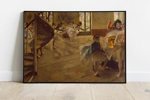 edgar Degas, Ensaio de Ballet, quadro, poster, canvas, reprodução, gravura, replica, tela, releitura