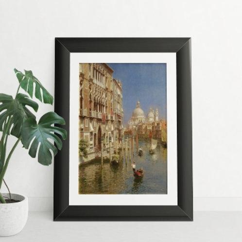 rubens santoro, Grande Canal de Veneza, quadro, Poster, gravura, canvas, Réplica, Reprodução, releitura