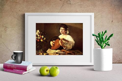 caravaggio, Tocador de Alaude, The Lute Player, quadro, poster, replica, canvas, gravura, reprodução, tela, releitura
