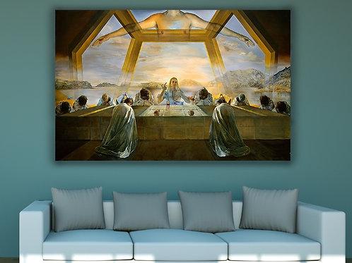 Salvador Dali,Santa Ceia,religioso,quadro,poster,replica,gravura,canvas,reprodução,tela,releitura,pintura,parede,decoração