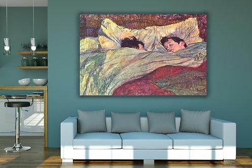 Toulouse Lautrec, Na Cama, In Bed, poster, gravura, reprodução, canvas, replica, releitura