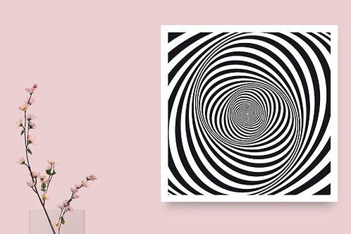 Quadro, Poster,3d,Gravura,Op Art,Arte Ótica,ilusão ótica, Minimalista, Canvas, branco, preto, abstrato, decorativo, fototela