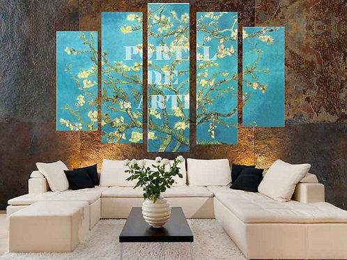 van gogh, almond blossom, amendoeira em flor, flor de amendoeira, ramo de amendoeira, galho de amendoeira, conjunto quadros