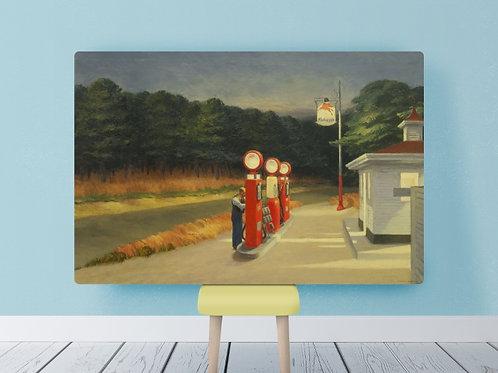 Edward Hopper,posto gasolina,gas,quadro, poster, réplica, gravura, reprodução, canvas, tela, fototela, foto, tela,pintura
