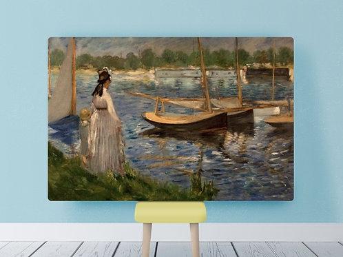 edouard Manet, Margens do Sena em Argenteuil, The Banks of the,quadro, poster, gravura, canvas, replica, reprodução, fototela