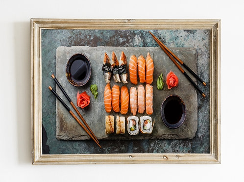 quadro,poster,gravura,canvas,foto,tela,fotografia,cozinha,Comida Japonesa,sushi,sashimi,,sala,jantar,varanda gourmet