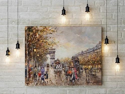 antoine blanchard, Arco do Triunfo,quadro de paris, cidade, paris, quadro, poster, replica, gravura, reprodução, canvas, tela
