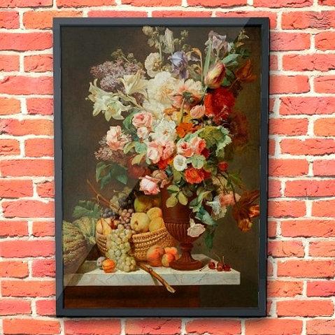 quadros para cozinha, quadros para sala de jantar, quadros baratos, Antoine Berjon, Natureza Morta, flores, canvas, poster