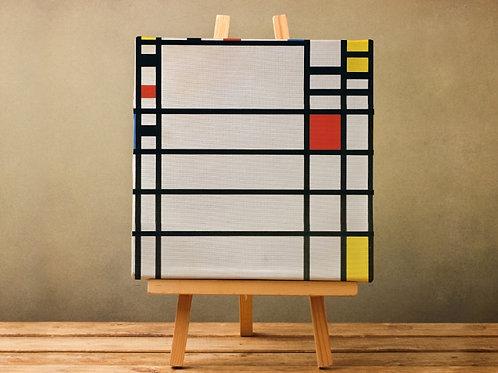 piet Mondrian, Composição com Vermelho, Branco, Amarelo e Azul, quadro, poster, gravura, canvas, replica,reprodução,releitura