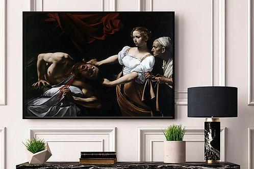 Caravaggio,Judith e Holofernes,quadro,canvas,poster,replica,gravura,reprodução,tela,pintura,giclee,fine art