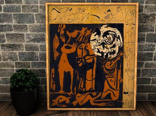 Jackson Pollock,obra,Sem Título,quadro,poster,replica,gravura,reprodução, canvas, fototela,cópia,tela,pintura,fine art