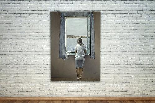 Salvador Dali, Mulher na Janela,quadro,poster,gravura,canvas,réplica,reprodução,tela,pintura,fototela