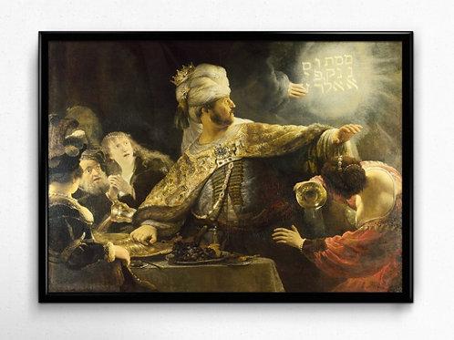 Rembrandt, Festa de Belshazzar, Belshazzar's Feast, quadro, canvas, poster, replica, gravura, reprodução, tela