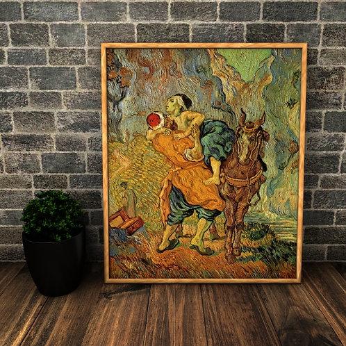 van gogh, O Bom Samaritano, good samaritan, 1890, poster, gravura, reprodução, canvas, replica, releitura