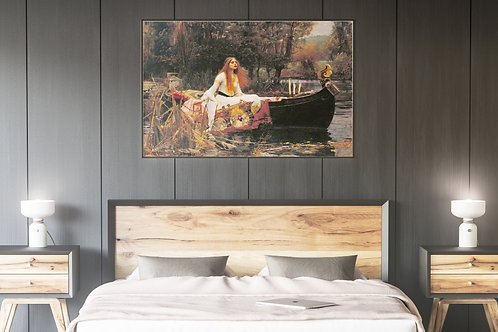 John William Waterhouse,Senhora de Shalott,dama,quadro,canvas,poster,replica,gravura,reprodução,tela,pintura,giclee,fine art