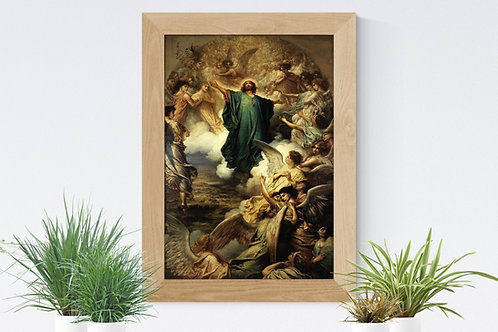Gustav Doré,A Ascensão,Jesus,quadro,poster,gravura,canvas,replica,reprodução,fototela,tela,pintura