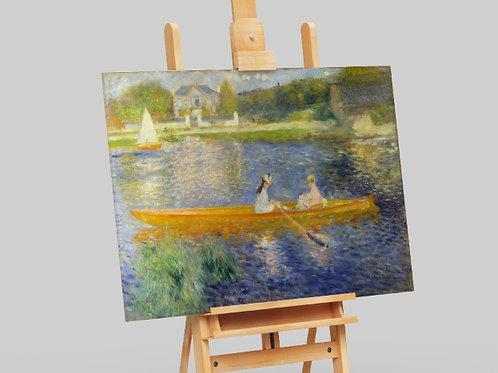 Renoir,O Esquife,O Sena em Asnieres,quadro,poster,gravura,replica,reprodução,canvas,fototela,tela,pintura