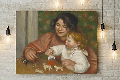 Renoir,Criança com Brinquedos,quadro,poster, gravura, replica, reprodução, canvas