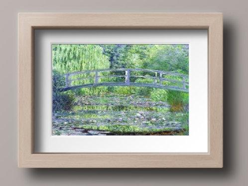 claude Monet Lírio d'água e a Ponte Japonesa, quadro, poster, replica, canvas, reprodução, gravura, tela