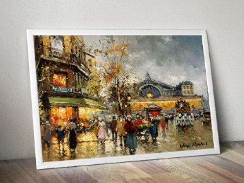antoine blanchard, paris, quadro, poster, replica, gravura, reprodução, canvas, tela