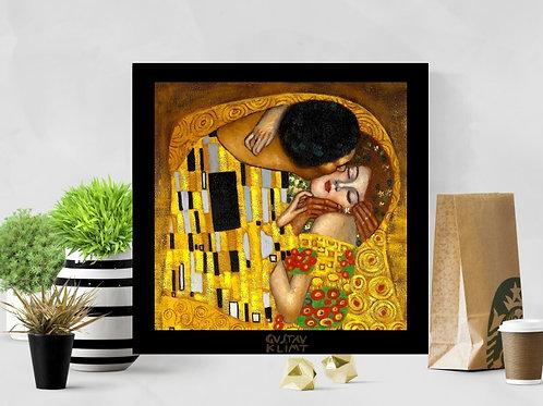 gustav klimt, Beijo,detalhe,quadro, poster, gravura, replica, canvas, reprodução, gravura, tela, releitura